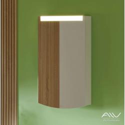 Шкаф зеркальный Alavann Crystal 45