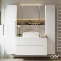 Комплект мебели Alavann Stella 100 белая столешница камень