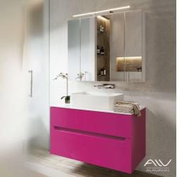 Комплект мебели Alavann Stella 100 фуксия столешница камень