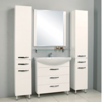 Комплект мебели Акватон Ария 80 Н белая