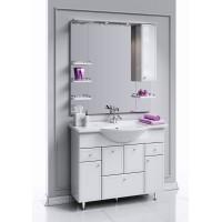 Комплект мебели Aqwella Барселона Люкс 105 с бельевой корзиной