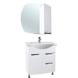 Комплект мебели Bellezza Глория 75 с бельевой корзиной