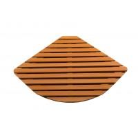 Деревянная решётка полукруг R100 86х86