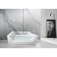 Акриловая гидромассажная ванна Ceruttispa C-454 1700x1200x580