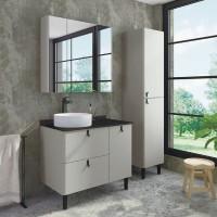 Комплект мебели Comforty Сорренто Н 90, светло-серая
