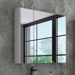 Зеркало-шкаф Comforty Сорренто 90, светло-серое