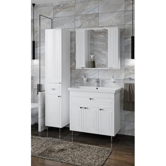 Комплект мебели Francesca Адажио 80 белый (3дв.+1ящ, ум. Como 80)