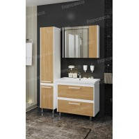 Комплект мебели Francesca Doremi new 80 напольная (раковина Como 80), дуб небраска