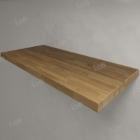Столешница под раковину (массив дуба) 110, светлая