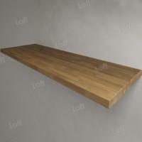Столешница под раковину (массив дуба) 150, светлая
