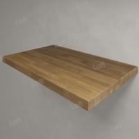Столешница под раковину (массив дуба) 80, светлая