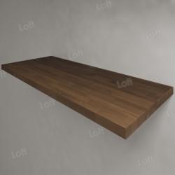 Столешница под раковину (массив дуба) 120, темная