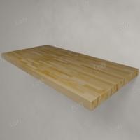 Столешница под раковину (массив лиственницы) 100, светлая
