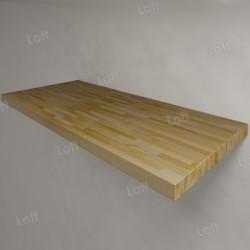 Столешница под раковину (массив лиственницы) 110, светлая