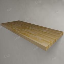 Столешница под раковину (массив лиственницы) 120, светлая