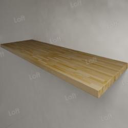 Столешница под раковину (массив лиственницы) 150, светлая