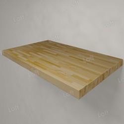 Столешница под раковину (массив лиственницы) 80, светлая