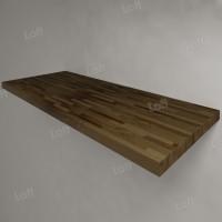 Столешница под раковину (массив лиственницы) 120, темная