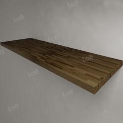 Столешница под раковину (массив лиственницы) 150, темная