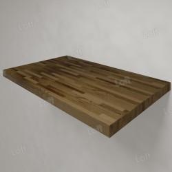 Столешница под раковину (массив лиственницы) 80, темная
