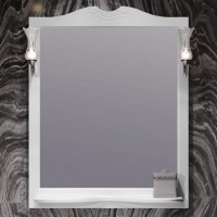Зеркало Opadiris Брунелла 80 белый матовый