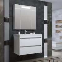 Комплект мебели Opadiris Фреш 80 подвесная белая