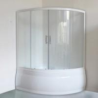 Шторка на ванну Royal Bath Alpine RB 140ALP-T 140 см, прозрачное стекло