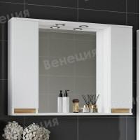 Зеркало-шкаф Венеция Bianco 100 белый 2 шкафа