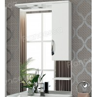 Шкаф-зеркало Francesca Виктория 70 белый