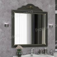 Зеркало Francesca Леонардо 85 черный, патина золото