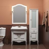 Комплект мебели Opadiris Лоренцо 80 белый матовый