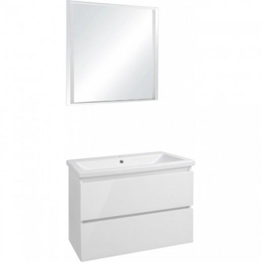 Комплект мебели Style Line Даймонд 80 Люкс Plus подвесная белый