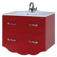 Тумба с раковиной Bellezza Версаль 90 2 ящика, красный