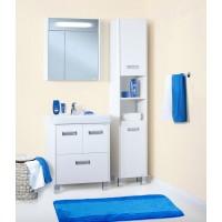 Комплект мебели Бриклаер Палермо 70 белый глянец