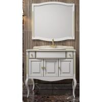 Комплект мебели Opadiris Лаура 100 с бежевой патиной со столешницей