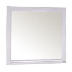 Зеркало ASB-Woodline Бергамо 85 белое с серебряной патиной