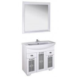 Комплект мебели ASB-Woodline Бергамо 85 витраж