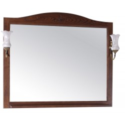 Зеркало ASB-Woodline Салерно 105 со светильниками, орех антикварный