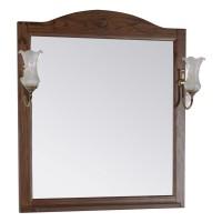 Зеркало ASB-Woodline Салерно 80 со светильниками, орех антикварный