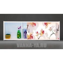 Фото экран под ванну раздвижной с полочкой Francesca Premium 1.5,1.7,1.8 Акация (Антискользящее Основание)