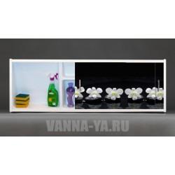 Фото экран под ванну раздвижной с полочкой Francesca Premium 1.5,1.7,1.8 Симфония (Антискользящее Основание)