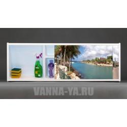 Фото экран под ванну раздвижной с полочкой Francesca Premium 1.5,1.7,1.8 Монако (Антискользящее Основание)