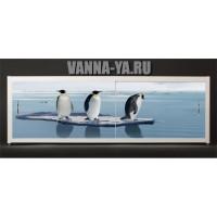 Экран под ванну Francesca Elite Пингвины на льдине 140-180 см (Антискользящее Основание)