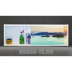 Фото-экран под ванну раздвижной с полочкой Francesca Premium 1.5,1.7,1.8 Багамский закат (Антискользящее Основание)