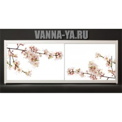 Экран под ванну Francesca Elite Цветение сакуры 140-180 см (Антискользящее Основание)