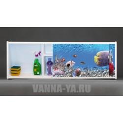 Фото экран под ванну раздвижной с полочкой Francesca Premium 1.5,1.7,1.8 В Поисках Немо (Антискользящее Основание)
