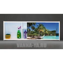 Фото-экран под ванну раздвижной с полочкой Francesca Premium 1.5,1.7,1.8 Баунти (Антискользящее Основание)