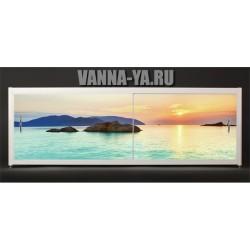 Экран под ванну Francesca Elite Багамский закат 140-180 см (Антискользящее Основание)