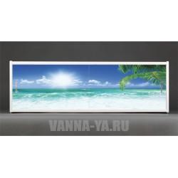 Фотоэкран под ванну Francesca Premium Гавайское утро 150/170/180 см (Антискользящее Основание)