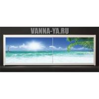 Экран под ванну Francesca Elite Гавайское утро 140-180 см (Антискользящее Основание)